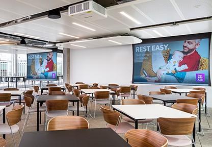 video wall at AIB smart building